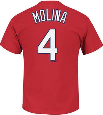 Majestic Men Yadier Molina St. Louis Cardinals Official Player T-Shirt