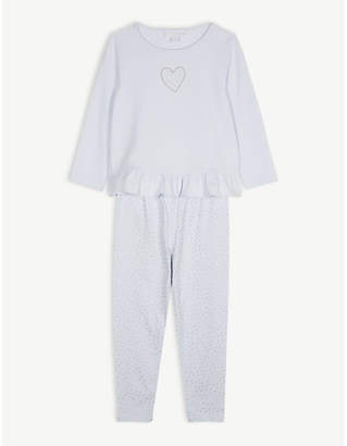 The Little White Company Glitter heart pyjama set 1-12 years