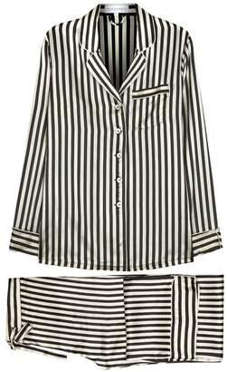 Nika Olivia Von Halle Lila Striped Silk Pyjama Set