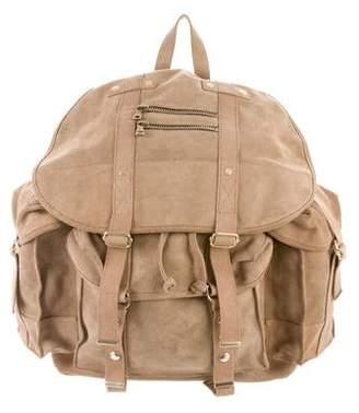 Balmain Suede Military Backpack