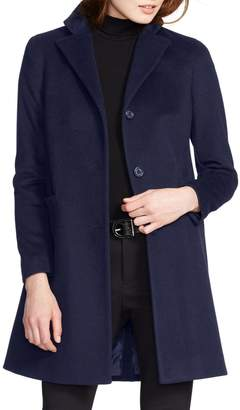 Lauren Ralph Lauren Wool Blend Reefer Coat