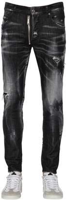 DSQUARED2 16cm Skater Cotton Denim Jeans W/ Zip