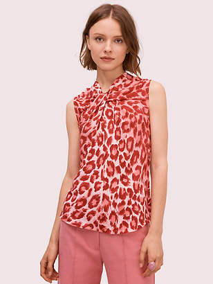 Kate Spade Panthera Twist Neck Shell, Soft Coral - Size 0