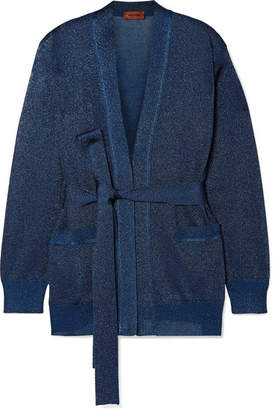 Missoni Belted Lurex Cardigan - Navy