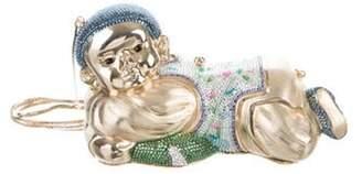 Judith Leiber Crystal-Embellished Pillow Boy Minaudià ̈re Gold Crystal-Embellished Pillow Boy Minaudià ̈re