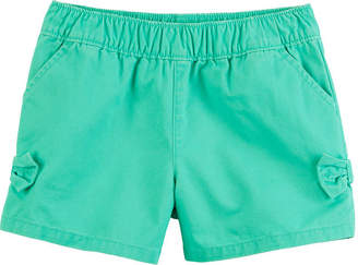 Carter's Twill Bow Detail Pull-On Shorts Preschool Girls