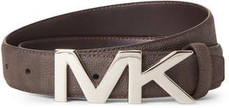 Michael Kors Logo Plaque Shadow Signature Belt