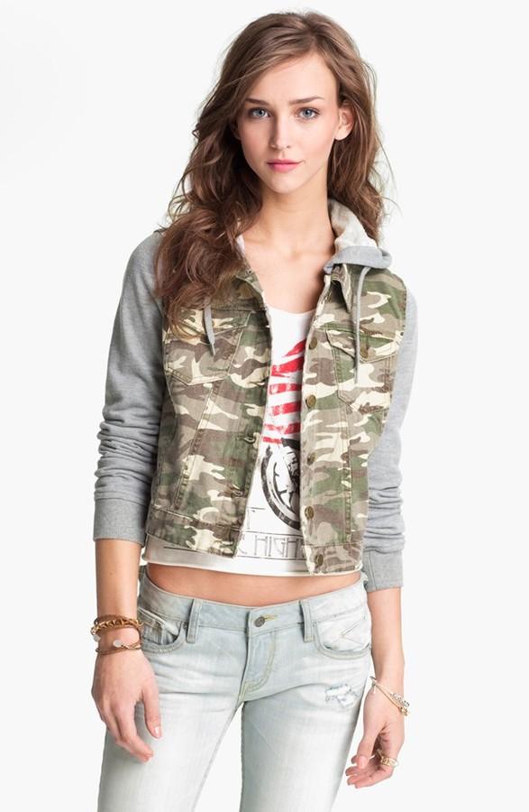 Camo Thread & Supply Jersey Sleeve Jacket (Juniors)