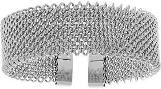 FINE JEWELRY Womens Stainless Steel Cuff Bracelet