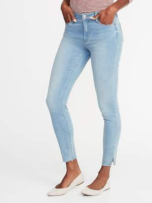 Old Navy Mid-Rise Built-In Warm Raw-Edge Rockstar Super Skinny Jeans for Women