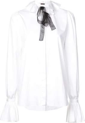 ADAM by Adam Lippes ruffled neck shirt