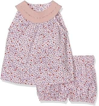 NECK & NECK Baby Boys' 17V01204.31 Small Girls' Fabric Dress Medium Pink