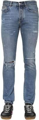 Givenchy 18cm Slim Fit Destroyed Denim Jeans