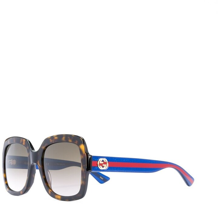 Gucci oversized tortoiseshell sunglasses