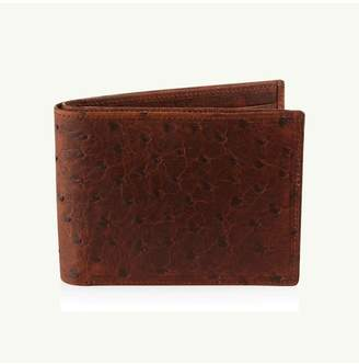 Okapi Billfold Wallet / Antique Saddle Ostrich