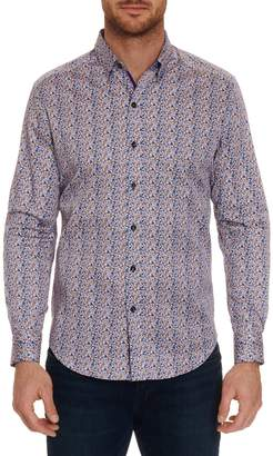 Robert Graham Cardin Printed Long Sleeve Sport Shirt