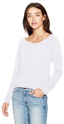 Three Dots Women's Slub Jersey Off Shoulder Sweatshirt