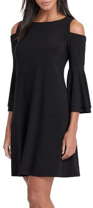 Women's Lauren Ralph Lauren Cold Shoulder Jersey A-Line Dress $140 thestylecure.com