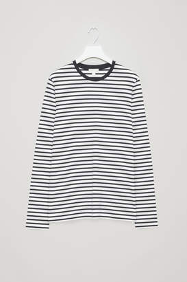 Cos LONG-SLEEVED STRIPED TOP
