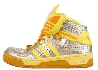 Jeremy Scott x Adidas Leather High-Top Sneakers