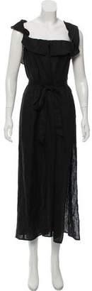 Reformation Linen Off-The-Shoulder Maxi Dress