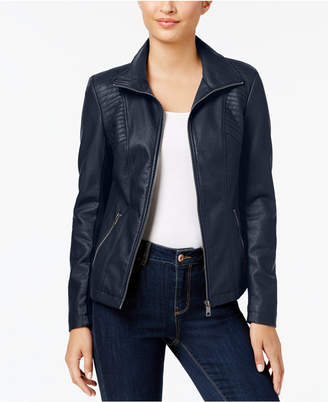 Style&Co. Style & Co Faux-Leather Moto Jacket, Created for Macy's
