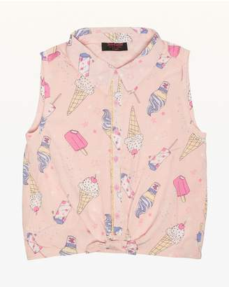 Juicy Couture Cool Treats Button Front Top for Girls