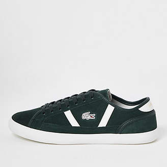 River Island Lacoste green Sideline trainers