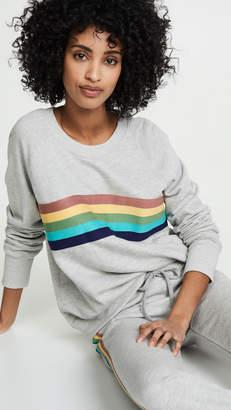 Sundry Rainbow Raglan Pullover