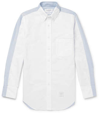 Thom Browne Slim-Fit Button-Down Collar Two-Tone Cotton Oxford Shirt