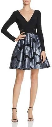 Aqua Rose-Brocade Party Dress - 100% Exclusive