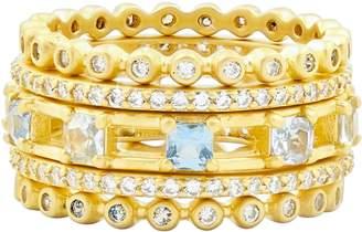 Freida Rothman Ocean Azure Cubic Zirconia Ring