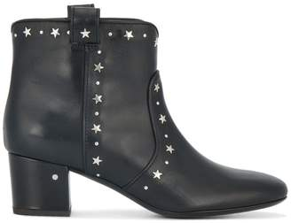 Laurence Dacade Black star stud 55 ankle boots