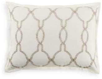 Hudson Park Collection Seed Stitch Trellis King Sham - 100% Exclusive