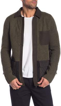 Scotch & Soda Contrast Zip Front Cardigan Jacket