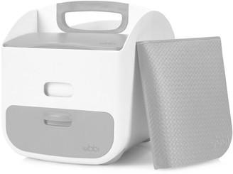 Baby Essentials Ubbi Diaper Caddy - White and Grey