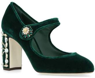 Dolce & Gabbana Velvet Vally Pumps 90