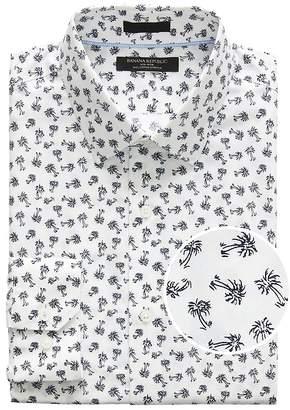 Banana Republic Grant Slim-Fit Non-Iron Palm Print Shirt
