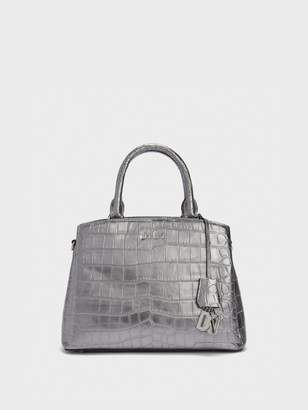 DKNY Paige Textured Leather Satchel