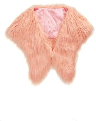 Saachi Faux Fur Shrug