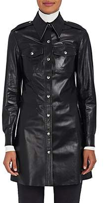 Calvin Klein Women's Leather Button-Front Tunic - Black