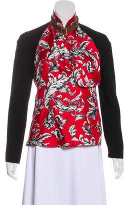 J.W.Anderson Silk Patterned Long Sleeve Top w/ Tags