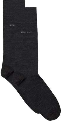 BOSS John Cotton Blend Logo Socks