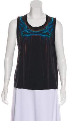 Theyskens' Theory Silk Abstract Print Blouse