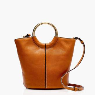 J.Crew Bracelet bucket bag in Italian leather