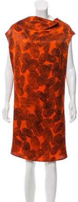 Saint Laurent Printed Sleeveless Dress w/ Tags