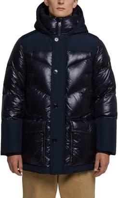 Woolrich Logo Arctic Down Hooded Puffer Coat