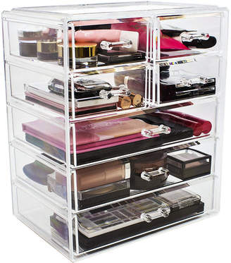 SORBUS Sorbus Acrylic Cosmetics Makeup and Jewelry Storage Case Display- 3 Large and 4 Small Drawers Space- Saving