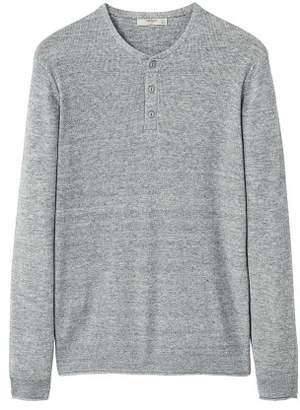 Mango man MANGO MAN Flecked henley sweater