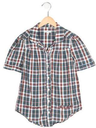 Steven Alan Girls' Short Sleeve Plaid Tunic